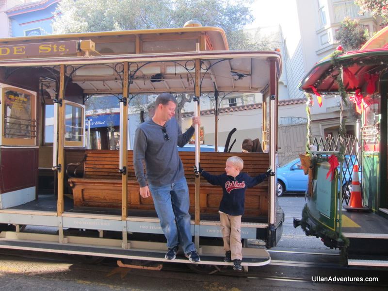 Cable car in San Fran