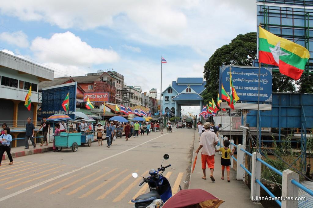Bridge connecting Myanmar and Thailand