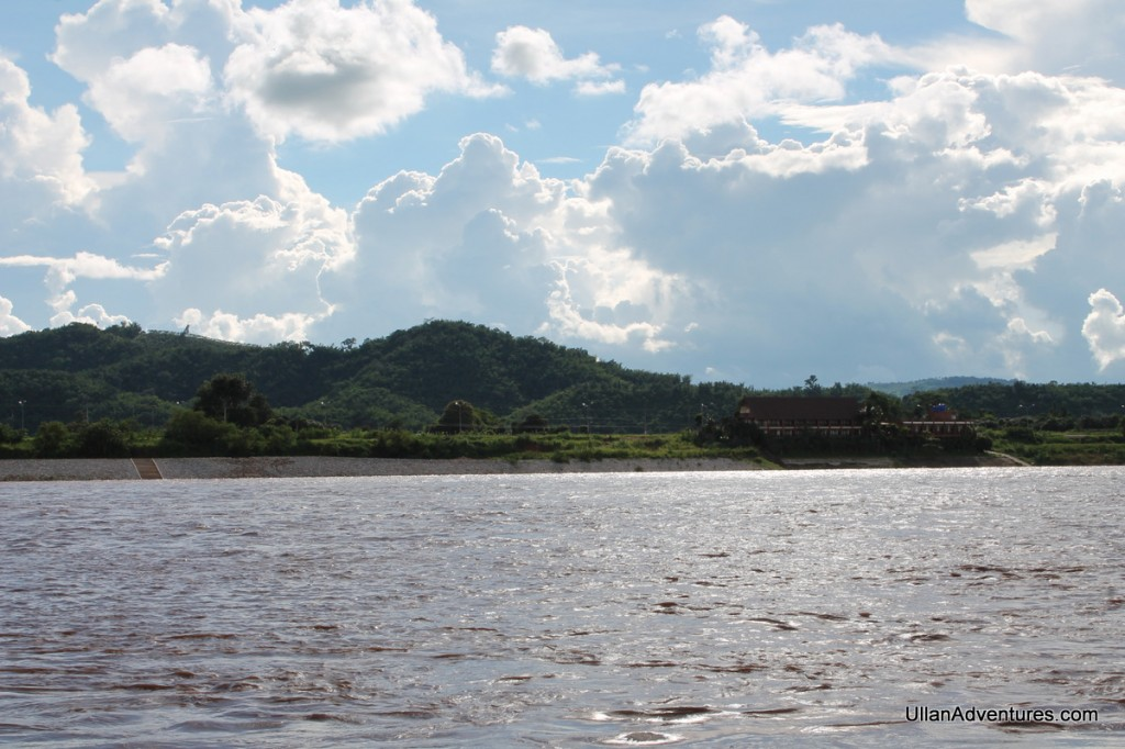 Looking across the Mekong at Thailand