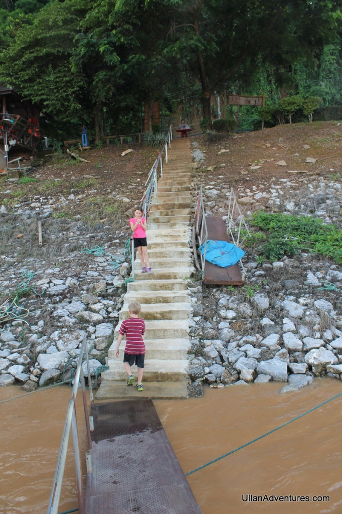 "Steps to the ""dock"""