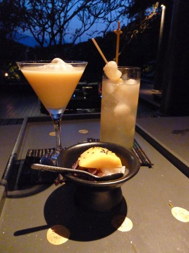 "The Mango and Sticky Rice cocktail (tasted just like the dessert!) and the ""Chiang Mai"" special of the day featuring longan"