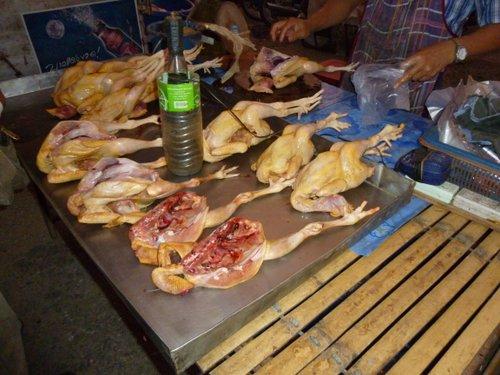 Hmmm, chicken carcasses
