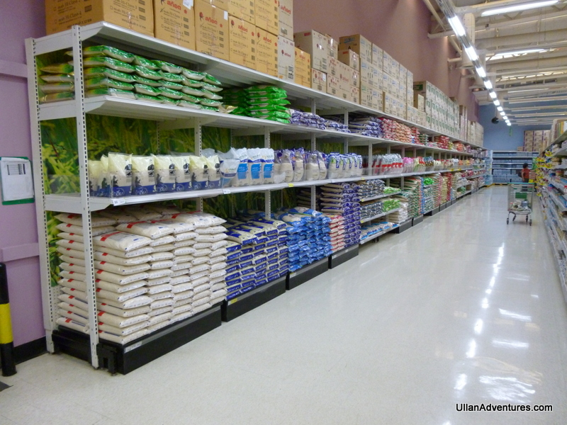 An entire aisle of rice