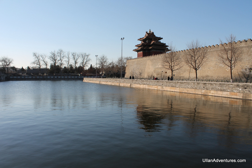 Moat and wall protecting the Forbidden City