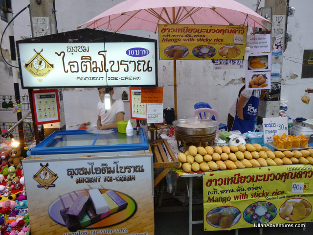 """Ancient"" ice cream and our favorite, Mango with Sticky Rice"