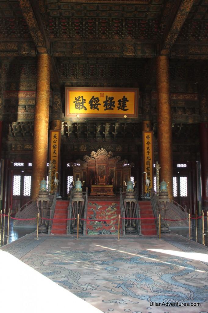 Throne inside the Hall of Supreme Harmony