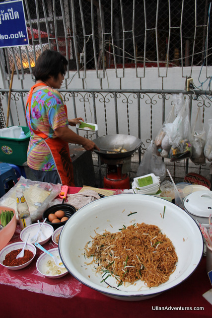 My favorite Pad Thai lady cooking it up fresh