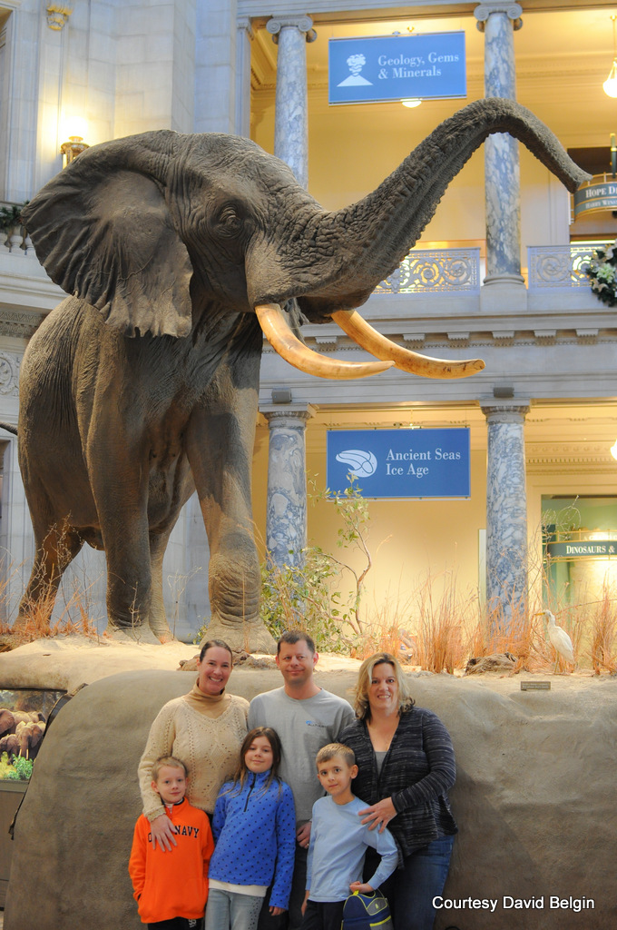 Smithsonian Museum of Natural History with friends