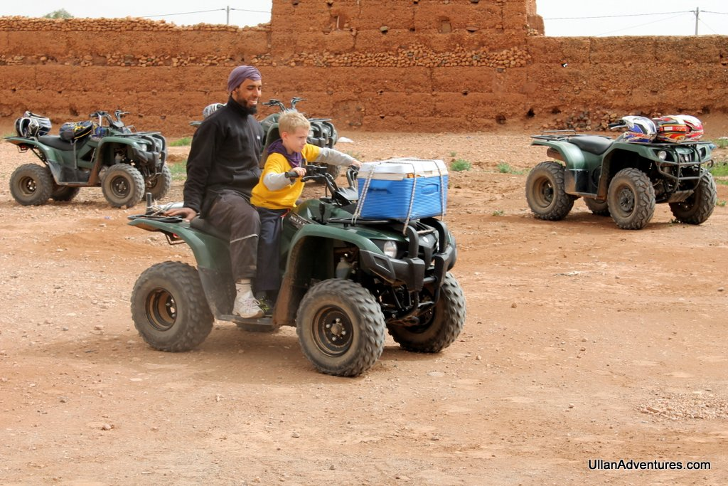 Driving an ATV in Morocco