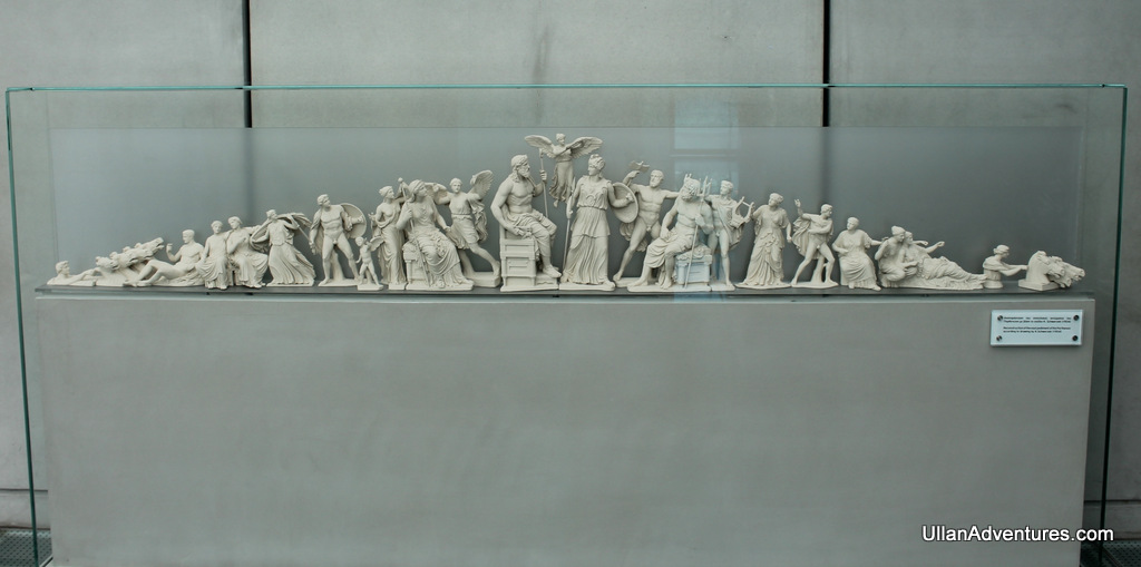 Model of the East pediment of Athena being born from Zeus's head