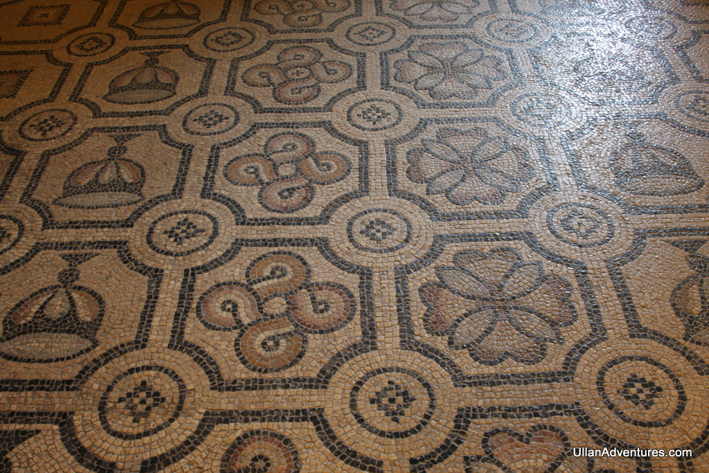 There are several mosaics in the castle that have been relocated from other sites.