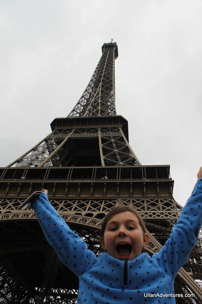 Me in front of the Eiffel Tower for the first time!