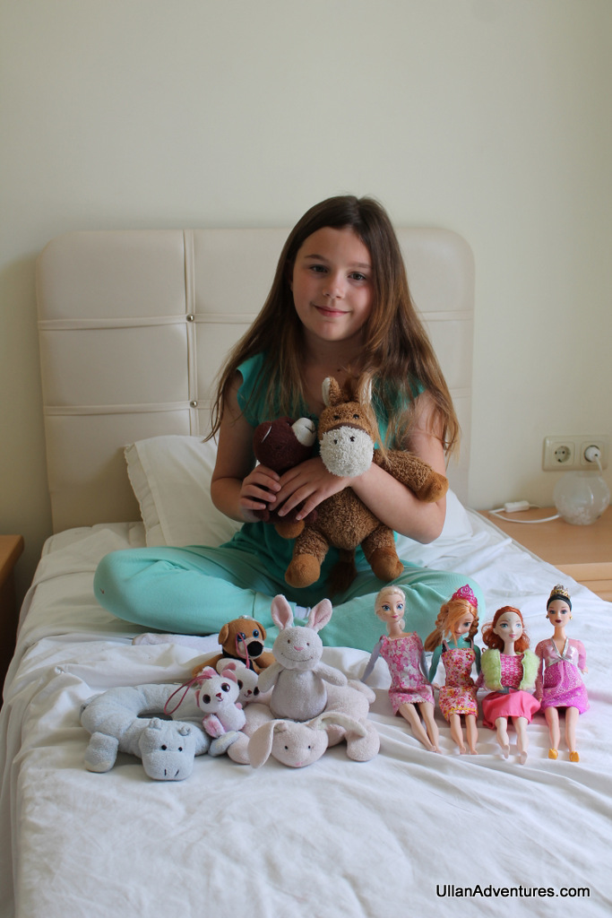 Me with my Stuffies and Barbies