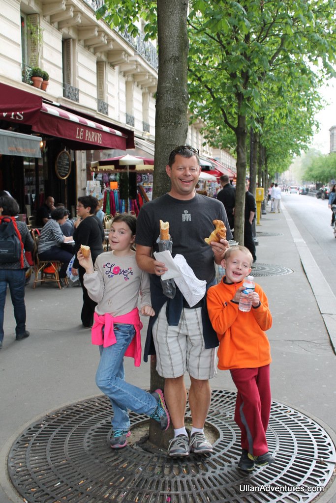 Baguettes and croissants in Paris