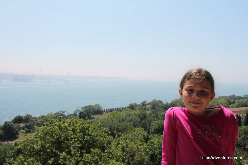 Mara overlooking the Bosphorus