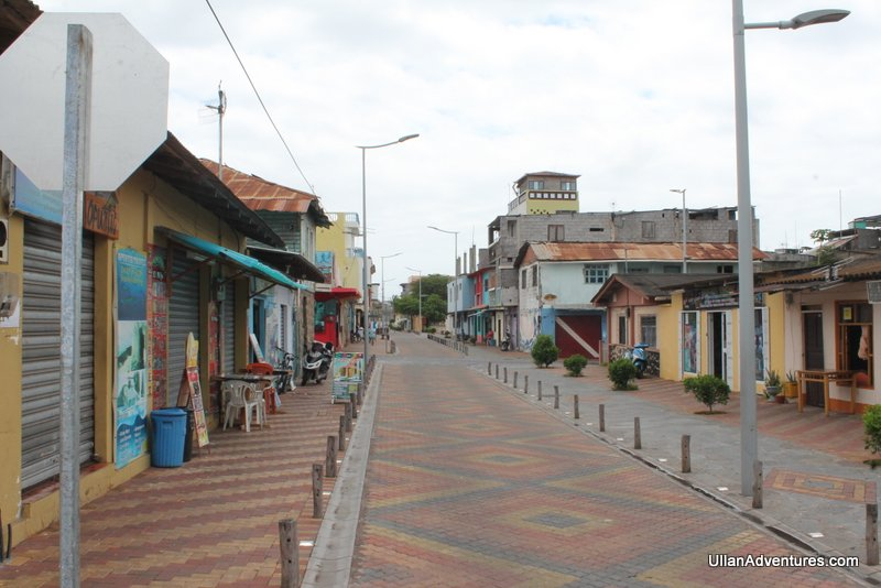 Typical street in town