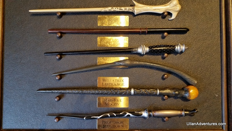 Different character's wands - really neat to see what they all looked like