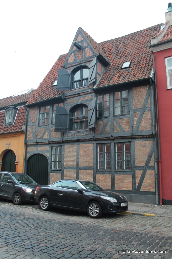 Old wooden beamed building